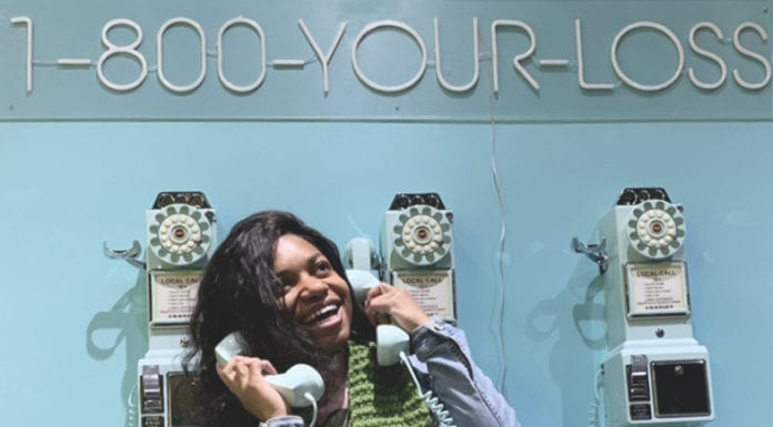 The Selfie Utopia backdrops include the telephone wall. (Courtesy photo)